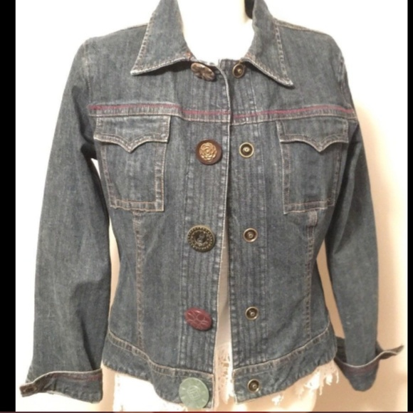 Cabi Jackets Coats Size M Blue Denim Artsy Jean Jacket Preowned